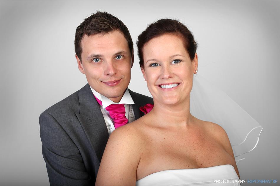 Bröllopsfotografering i fotostudio